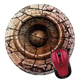 Liili Round Mouse Pad Natural Rubber Mousepad IMAGE ID: 11791261 pink orange HD 3d render grunge old speaker sound system deejay DJ