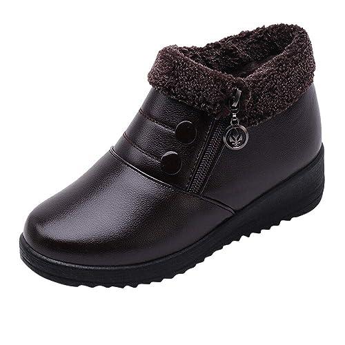 Botines Chukka cuña Plataforma para Mujer Invierno PAOLIAN Zapatos Casual Moda Calzado Suela Blanda Dama Otoño