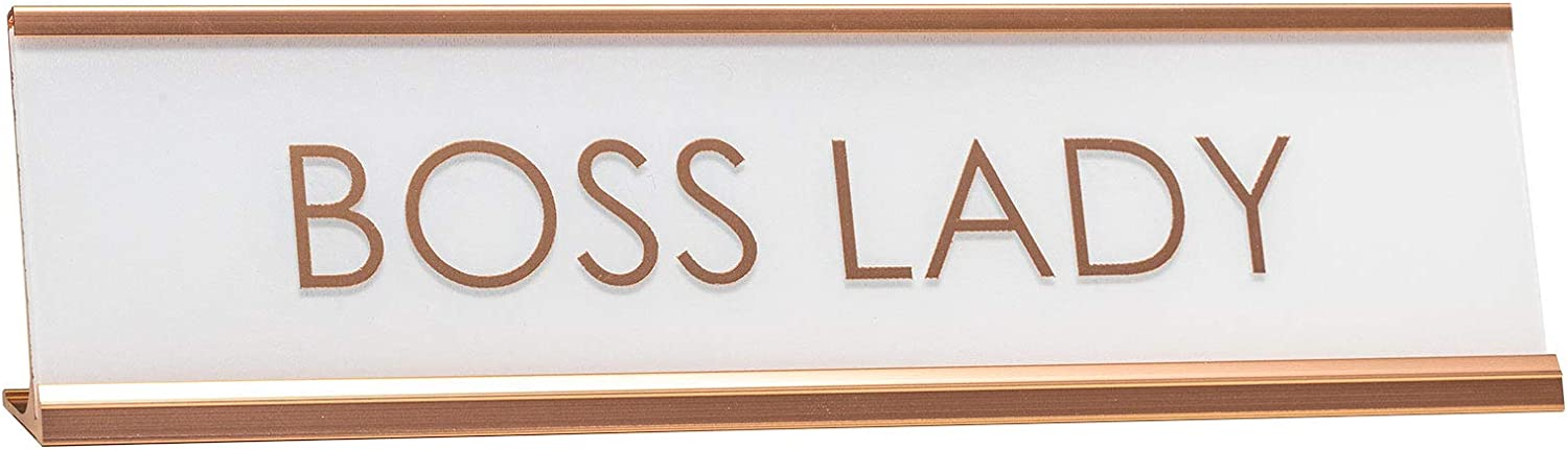 All Quality Boss Lady Rose Gold Novelty Desk Sign