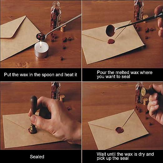 MyLifeUNIT - Kit de sellos de cera de rosa para boda, juego de sellado de cera Retro Envelop 110 mm*200 mm*90 mm rosso