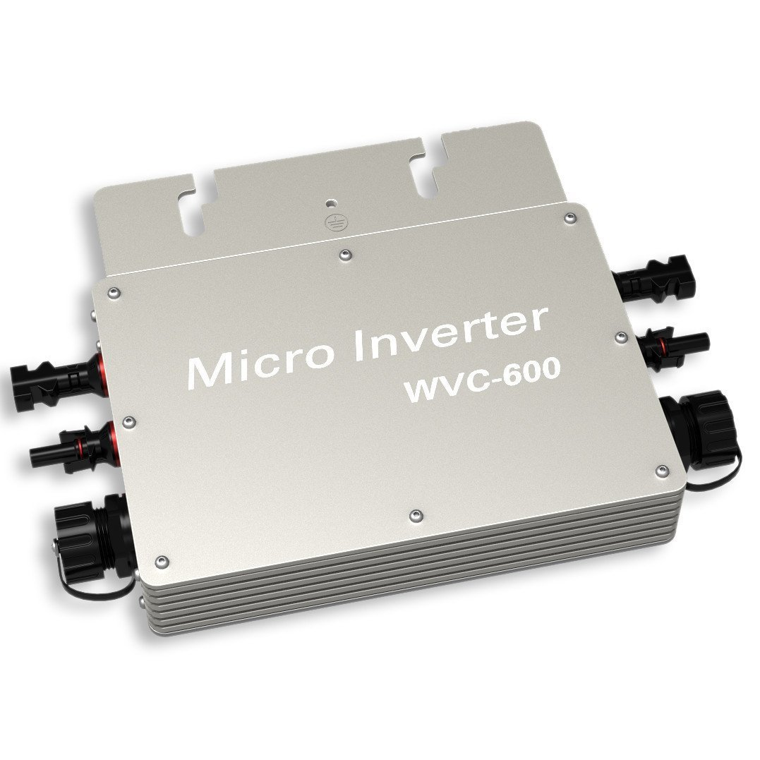 ECO-WORTHY Solar on Grid Tied Micro Inverter Power Limiter MPPT PV System DC to AC 600W DC24V