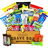 The Classic CraveBox (30 Count) - Variety Assortment Bundle of Snacks, Candy, Chips, Chocolate, Cookies, Granola Bars, and More! Great Easter Gift Care Package!