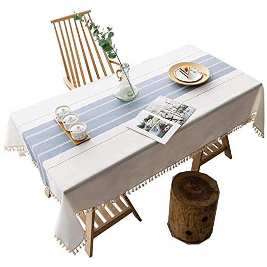 Mesa de Centro Simple Mantel Mantel de algodón Lino Rectangular ...