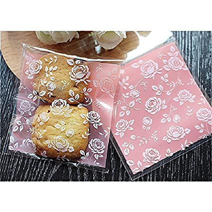 Amazon.com: Saasiiyo 8x8+3cm 100pcs/lot Plastic Candy Bags ...