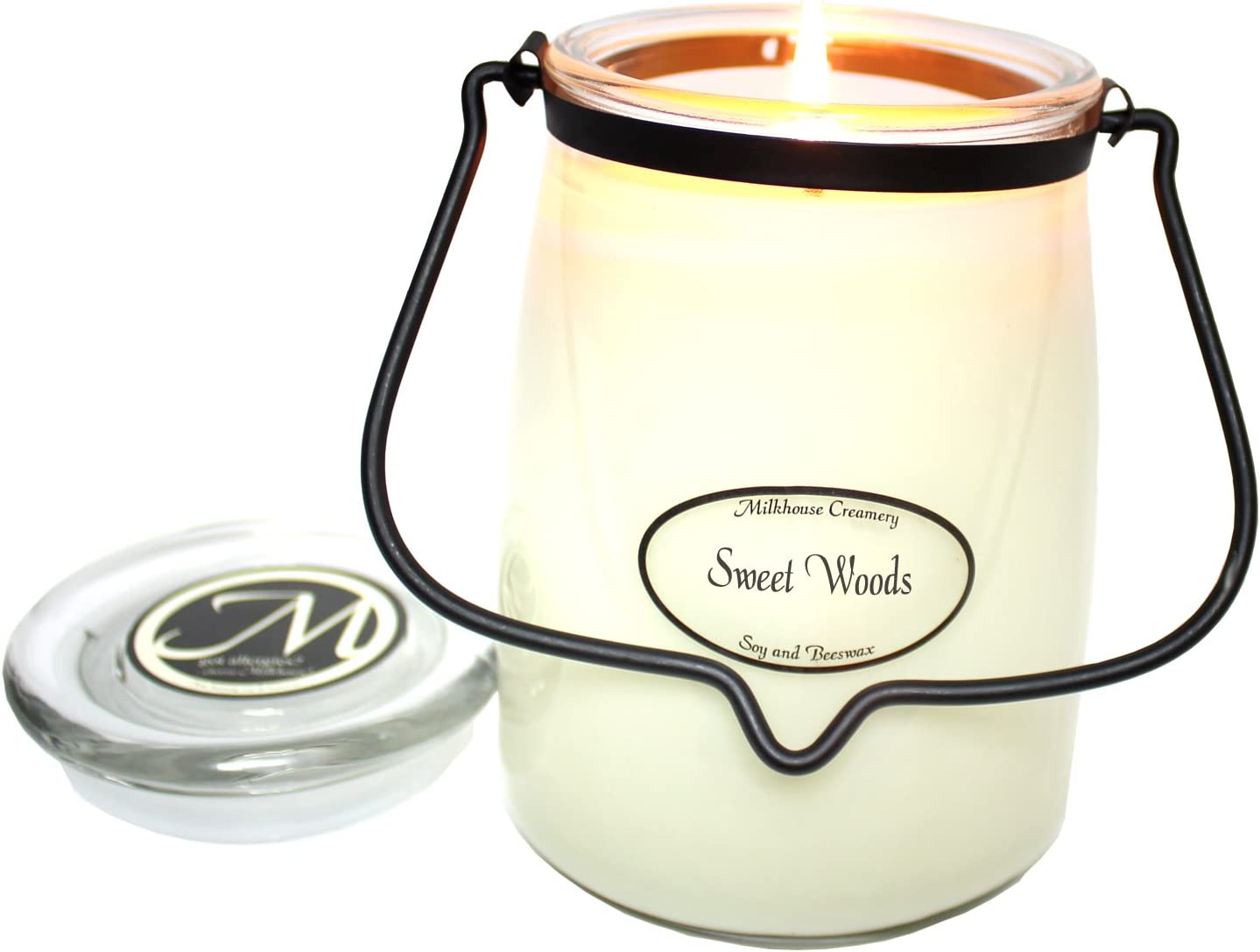 Milkhouse Candle Creamery Butter Jar Candle, Sweet Woods, 22-Ounce