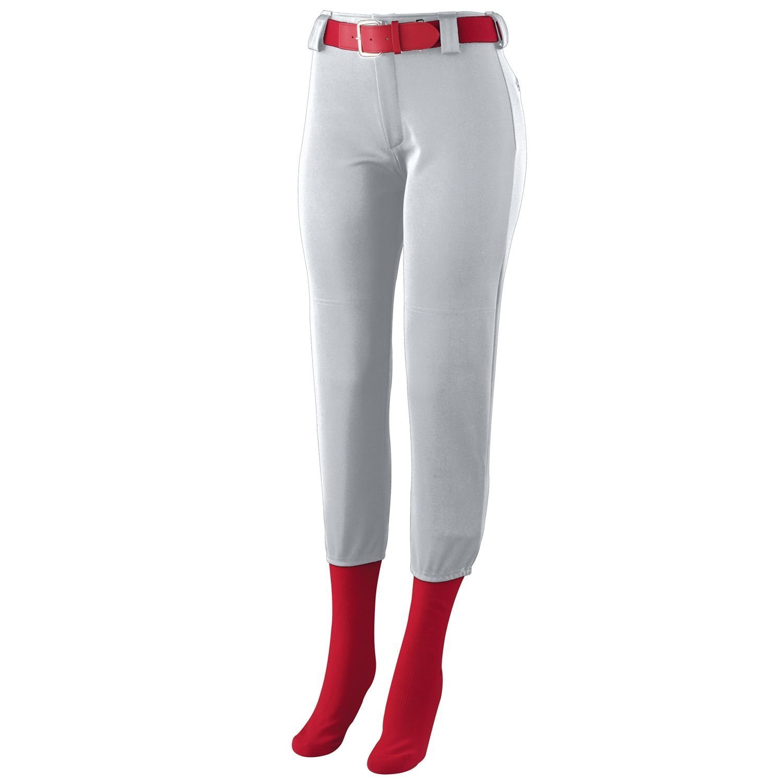 Augusta SportswearレディースHomerun Low Riseソフトボールパンツ B00GK5S8JY X-Small シルバーグレー シルバーグレー X-Small