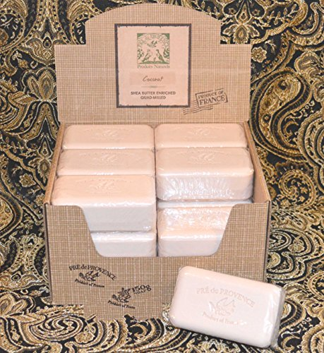 (Case of 18 Pre de Provence Coconut 150 gram shea butter large soap bars)