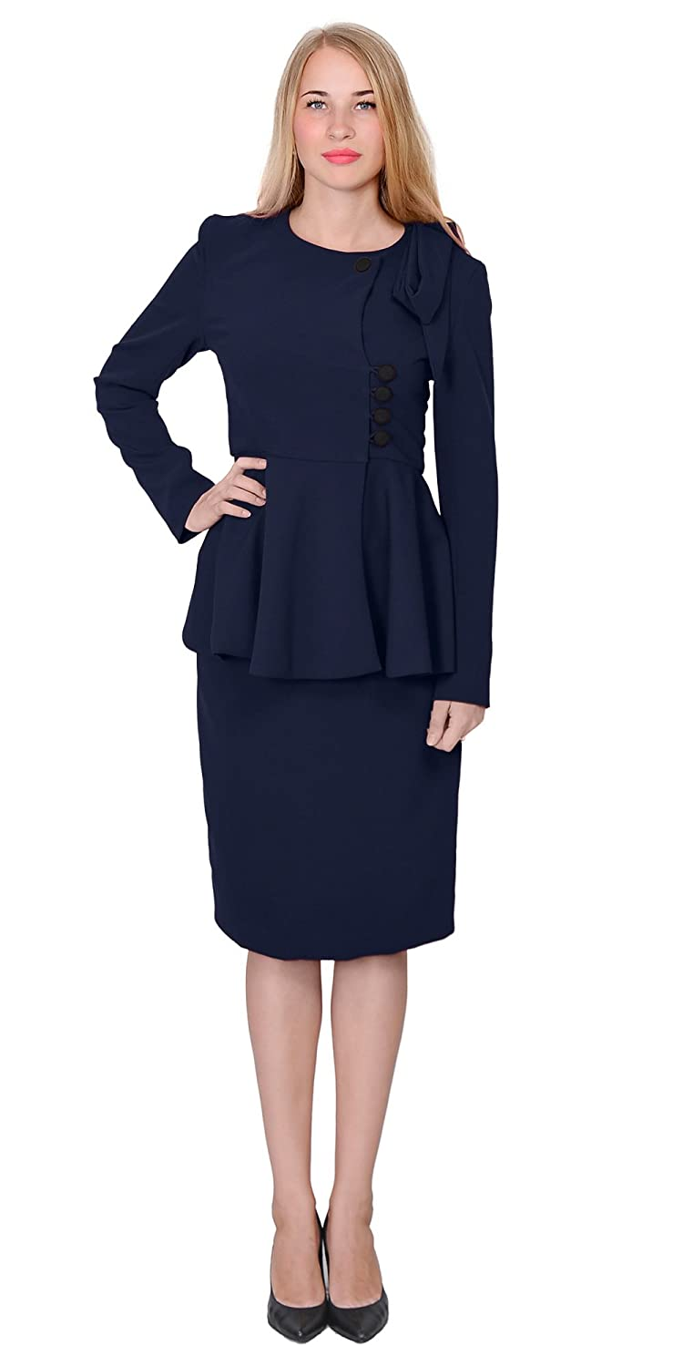Wiggle Dresses | Pencil Dresses Marycrafts Womens Classy Vintage Peplum Business Church Skirt Suit Dress $67.90 AT vintagedancer.com