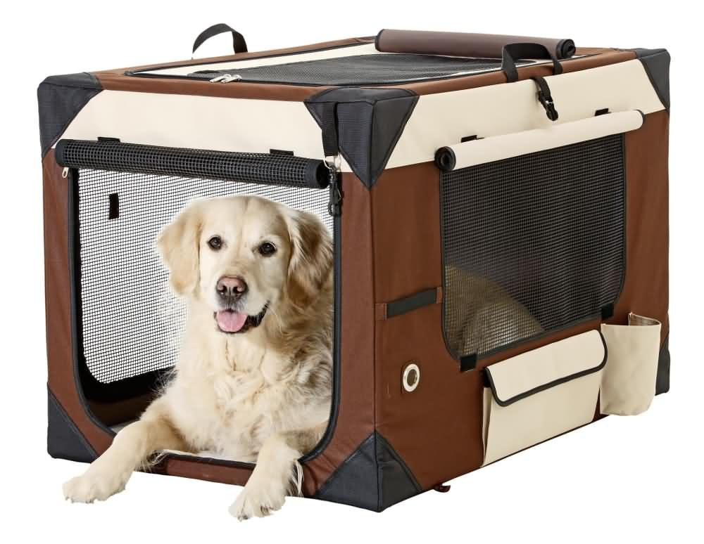 Karlie Smart Top De Luxe Travelbox for Dogs, 61 x 46 x 43 cm, Beige Brown