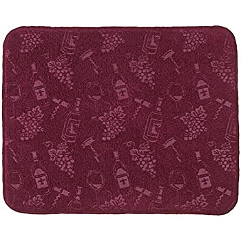 Amazon Com Embossed Wine And Grapes Kitchen Countertop