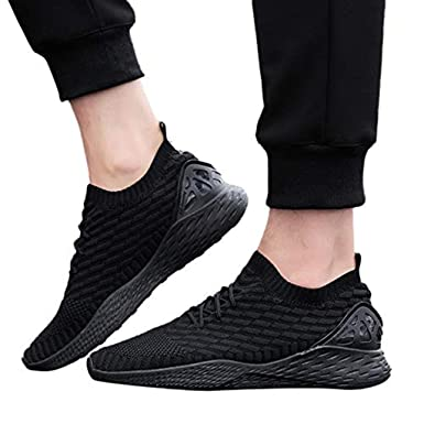 d59594ab638fb Sharemen Men's Sports Running Shoes Casual Light Shoes Fashion Zebra Socks  Sneakers