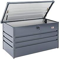 Gardebruk - Coffre de rangement 360 L acier anthracite • 120x62x63cm • Verrouillable - Malle de rangement jardin