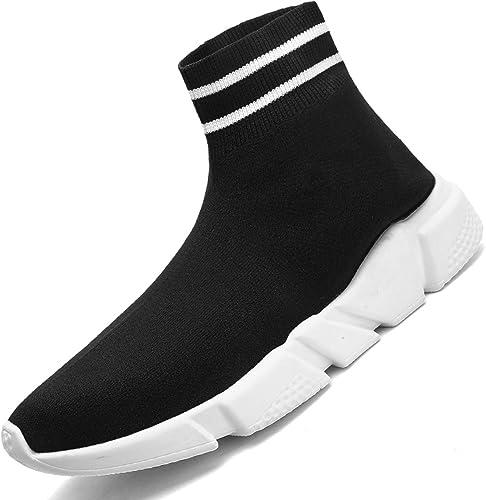 Indoor e Outdoor Moda Unisex allaperto Slip-on High Cut Walking Scarpe da Ginnastica Paio Fannullone Scarpe comode Scarpe da Ginnastica in Maglia