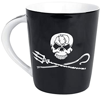 cf94ee8296f Sea Shepherd Jolly Roger Mug noir blanc  Amazon.fr  Cuisine   Maison
