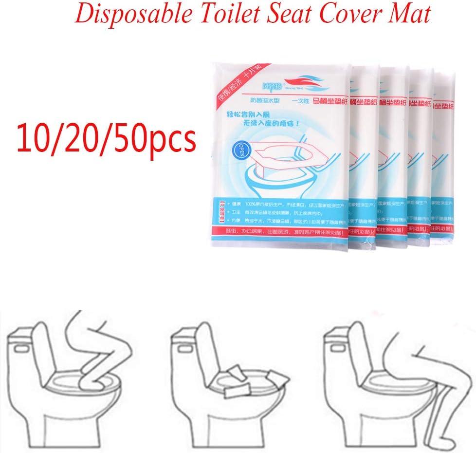 Timegoing 10//20 50 pi/èces Housse de WC en Papier jetable pour Le Camping Voyage sanitaire