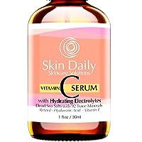 Antioxidant Vitamin C Serum for Face- Infused with Electrolytes, Hyaluronic Acid, Retinol - 1 oz
