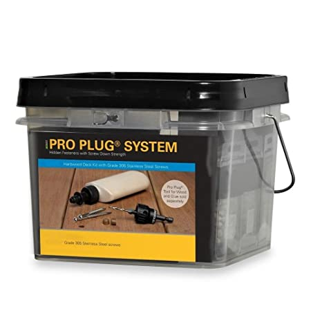 Starborn Industries IPE Pro Plug System For Wood Decking Kit - 100 Sq Ft  with #8 x 2-1/2