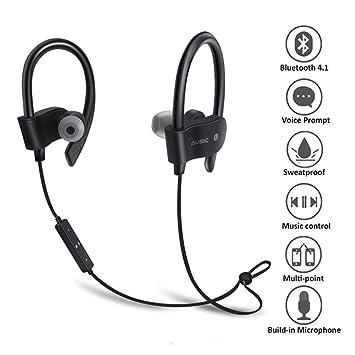 JOROPH Auriculares Bluetooth Mejores Auriculares Inalámbricos Deportivos con Mic IPX5 Impermeable HD Estéreo a prueba de