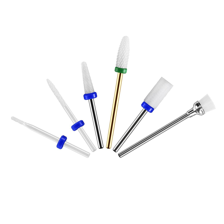 5x Puntas de Cerámica Profesionales para Maquina de Perforacion de Uñas, Broca Bit de Uñas de Gran Calidad para Manicura y Pedicura: Amazon.es: Belleza
