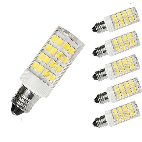 T4 E11 Bombilla LED, T4 Mini candelabro LED E11 Base 110 V 4 W equivalentes a ...