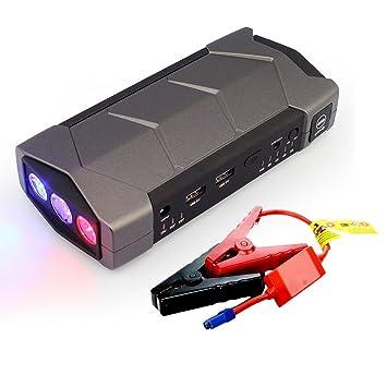 Mingchang Jump Starter 12000mAh, 400A Arrancador de Coche Pack Cargador de 12V Batería(Batería Externa, LED, Arranque Kit Para Coche) Negro: Amazon.es: ...