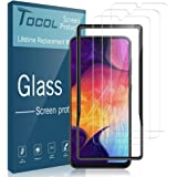 TOCOL [3Pack] for Samsung Galaxy A50/A30 Screen Protector Tempered Glass HD Clarity Touch Accurate [9H Hardness] with Easy Installation Tray
