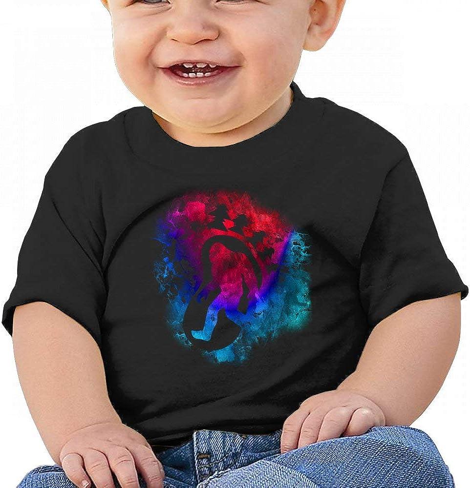 HTUAEUEHRH Bigfoot Sasquatch Retro Watercolor Baby Boys Toddler Short Sleeve T-Shirts Tees