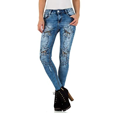 6feeddecdf8f9 Schuhcity24 Damen Kleidung Jeans Used Look Low Skinny XS/34-XL/42 ...