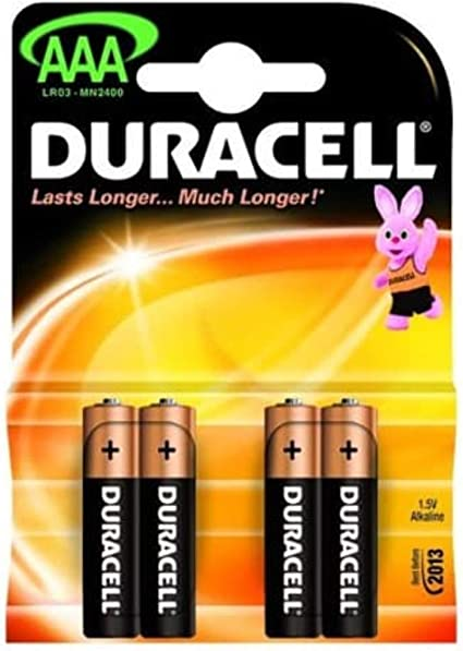 A Pack of 4 Duracell Basic AAA Batteries | Duracell, Aaa