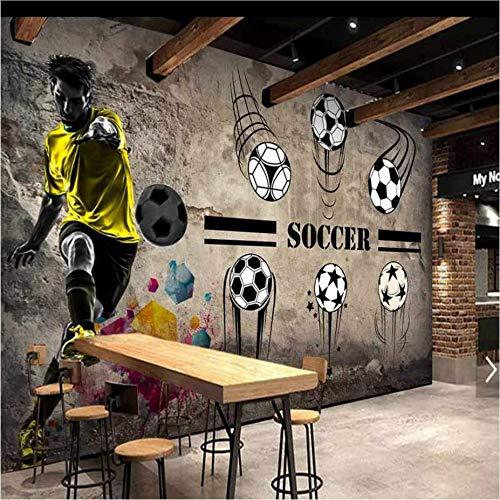 Zybnb Fototapete 3D Fußball Ziel Szene Tapete Kinder Schlafzimmer Wohnzimmer Restaurant Schule Stadion Tapete Wandbild