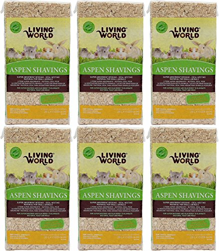 Living World Aspen Shavings Bedding, 120L (6 x (Aspen Hypoallergenic Bedding)