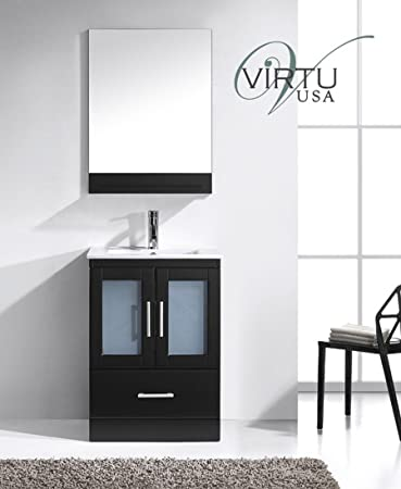 Virtu Usa Ms 6724 C Es Modern 24 Inch Single Sink Bathroom Vanity