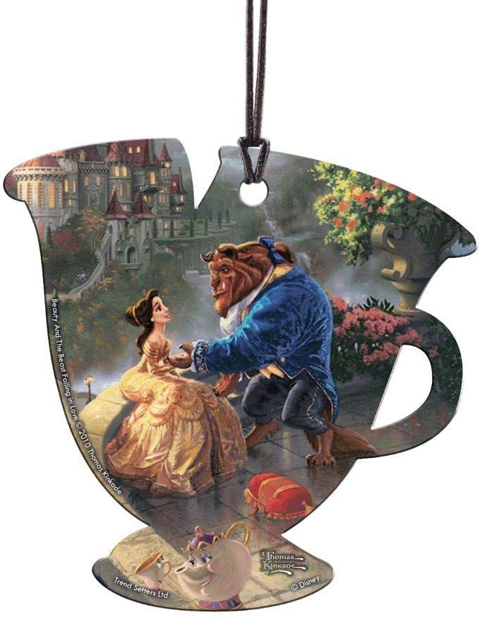 Trend Setters Disney - Beauty and The Beast - Thomas Kinkade - Chip Teacup Shaped Hanging Acrylic Print