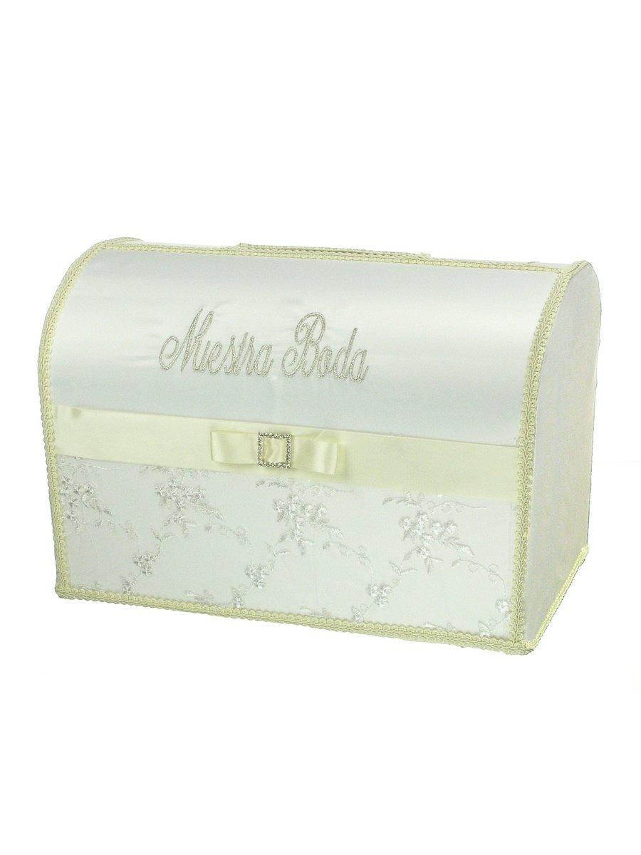 Spanish Style Spanish Embroidered Wedding Gift Card/Money Box 15 x 10 x 9 Inches Ivory