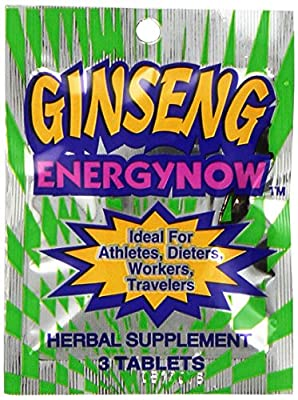 Energy Now Ginseng Herbal Supplement 36 Packs