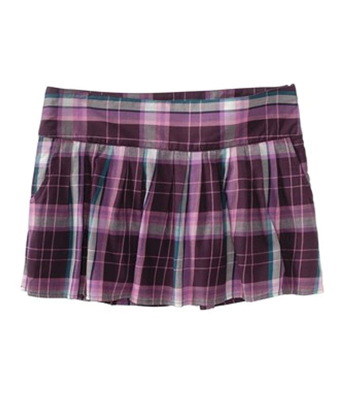 aeropostale womens plaid pleated front mini skirt design