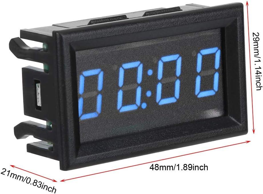 Orologio per auto YB27T LED Orologio per auto elettronico Cruscotto automatico luminoso Decorazione per orologi digitali Blu