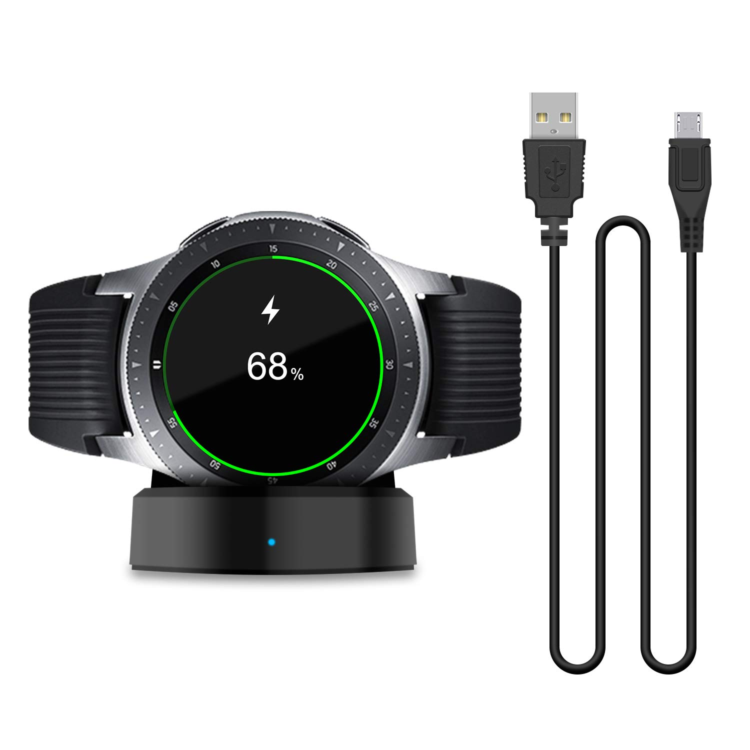 Updated Charger Compatible with Samsung Galaxy Smart Watch 42mm 46mm, Replacement Charging Dock Cradle Only for Samsung Galaxy Smart Watch SM-R800 SM-R810 SM-R815 (NOT for Active Watch)