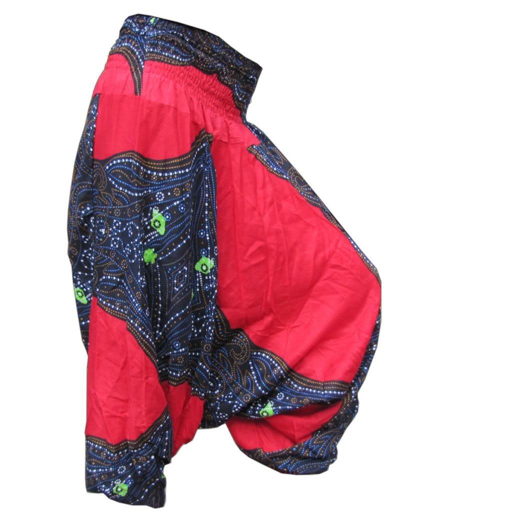 passt M bis L, Haremshose wechselnde Designs - nur kleine Auflagen - aus Familienbetrieb - Solange Vorrat reicht PANASIAM Aladdin Pants Butterfly