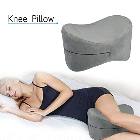 ESSORT Contour Knee Pillow for Side Sleepers, Orthopedic Memory Foam Leg Pillow for Sleeping, Spine Alignment for Sciatica Relief, Back Pain, Leg ...