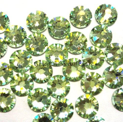 Swarovski Crystal 4mm Chrysolite (144 Swarovski 2058 Xilion / NEW 2088 Xirius 16ss 4mm flatback rhinestones ss16 CHRYSOLITE F)