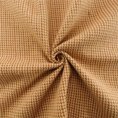 Orange/Ivory Houndstooth Twill Plaid Home Decorating Fabric, Fabric by The Yard (Upholstery Houndstooth Fabric)