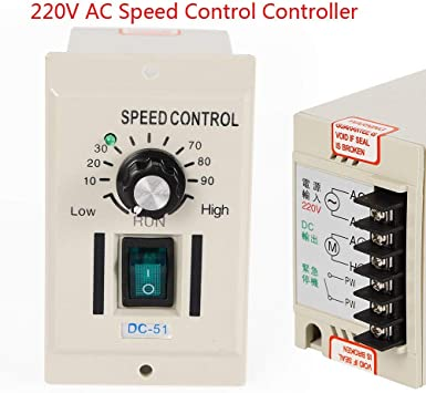 US AC 220V Motor Speed Control Controller For 0.01-400W DC 0-90V 1//3ph