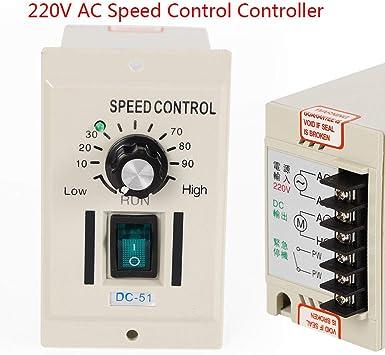 NEW 120W DC Motor Speed Controller Input AC 220V Output DC 0-90V