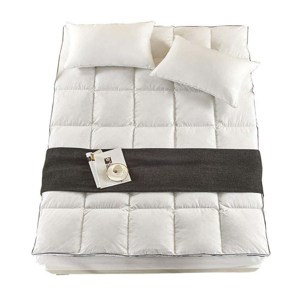 マットレス95%白いガチョウマットレス10cm厚さの綿畳敷きシングルダブル,120*200CM B07T3Z7JSN  120*200CM