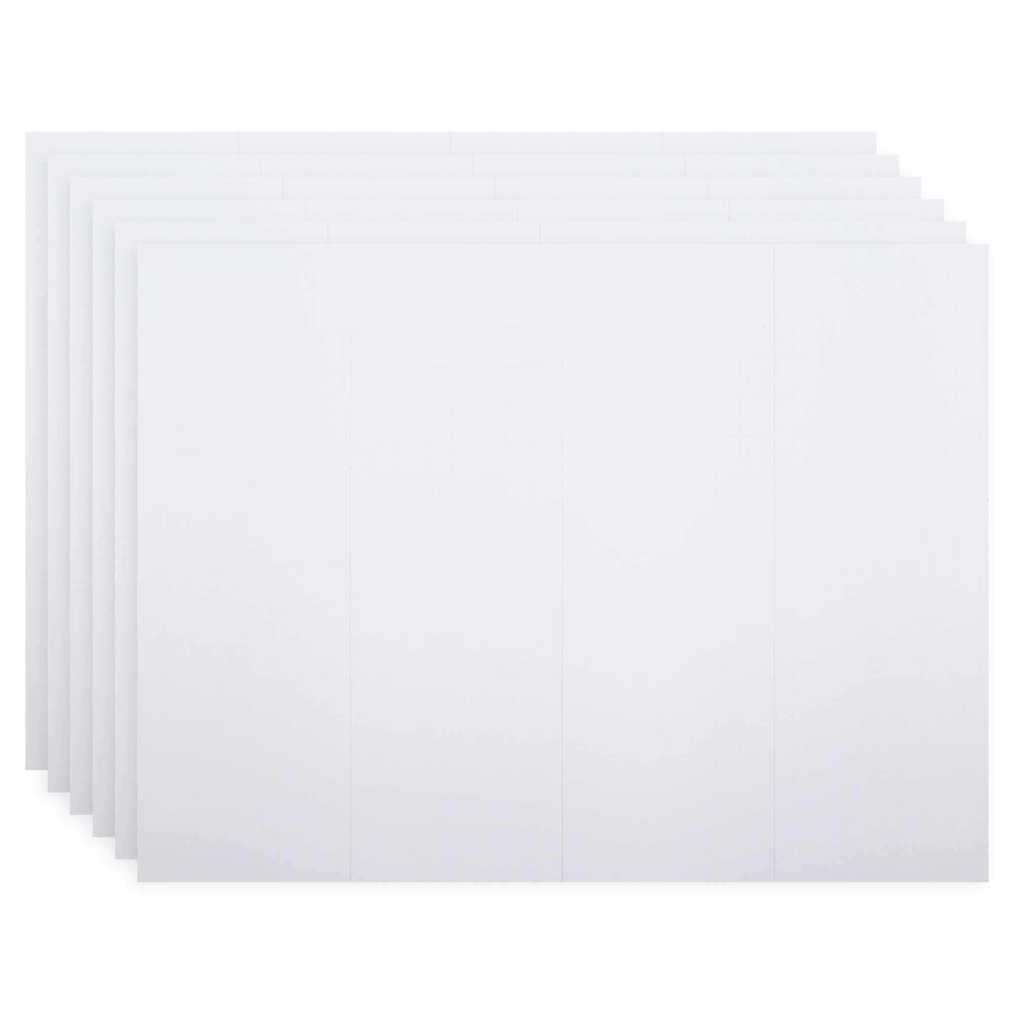 CTG, Office Works Collection, Quad Fold Foam Presentation Boards, 36 x 48 inches, White, 6 Pieces