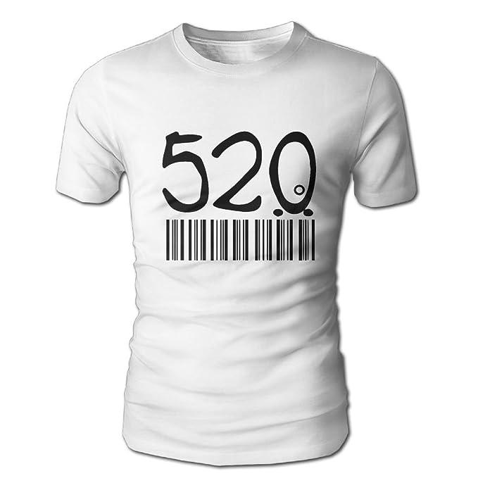 f6ed0546cba Amazon.com  Man 520 Bar Code 3D Shirts Short Sleeve Blouse Casual ...