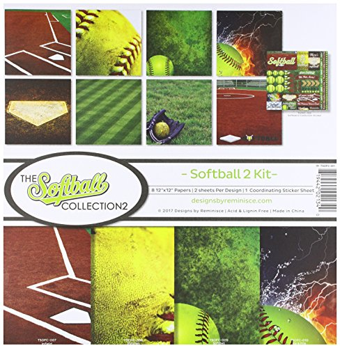 Archive Scrapbook Scrapbooking (Reminisce The Softball Collection 2 Scrapbook Kit 2)