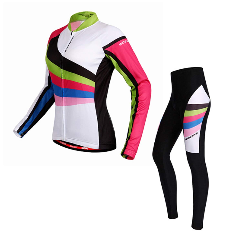 Liangyndalian Radfahren Kleidung Sets Frauen Jacke Atmungsaktiv Schnell Trocknend Lässige Outdoor Laufbekleidung Radfahren Hosen Klassische Fahrrad Hosen