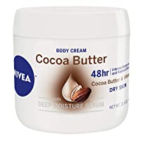 NIVEA Cocoa Butter Body Cream - 48 Hour Moisture For Dry Skin To Very Dry Skin -...